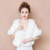 Bride Married Shawl Cape Package Wedding Dress Winter Warm Cloak Outside The Scarf White