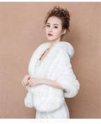 Bride Married Shawl Cape Package Winter Warm Party Outside Wedding Dress Cloak Coat White Print