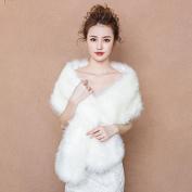 Bride Married Shawl Cape Package Winter Warm Cloak Ride Wedding Dress Strip Scarf White