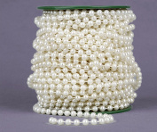ABS imitation pearls 6mm cotton plastic beads chain 25 m package DIY jewellery accessories beads white / beige , beige