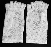 Rcdxing Women Lace Fingerless Short Gloves Bridal Gloves