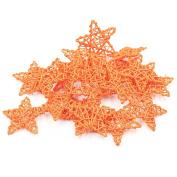 Natural Rattan Five Stars Shape DIY Craft Art Christmas Wedding Ornamen Hanging Garden Home-Orange 12CM Pack of 20