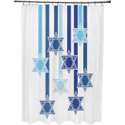 Shooting Stars Geometric Print Shower Curtain
