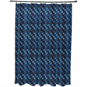 Simply Daisy 180cm x 190cm Mad for Plaid Geometric Print Shower Curtain