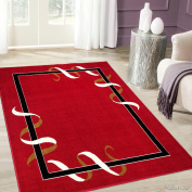 Allstar Red Woven High Quality Rug. Traditional. Persian. Flower. Western. Design Area Rug