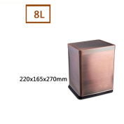 Trash Home Living Room Bedroom With No Toilet Kitchen Stainless Steel Shake Cover , 8804 Red Bronze