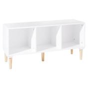 Wooden children's storage unit with 3 cubbies- colour WHITE