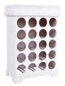 ts-ideen Wine rack Wine Shelves for 16 bottles Wood in white