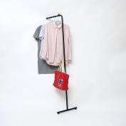 ZJM- Creative Simple Coat Stand Metal Hallstand Floor Type Floor Type Assembled Clothes Tree Black