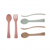 Set of 6 Wheat Fibre Baby Spoons and Forks Set