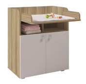 Polini Kids Simple Collection Drawer Unit, Number 1270, Oak/White
