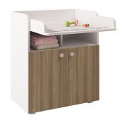 Polini Kids Simple Collection Drawer Unit, Number 1270, White/Oak