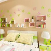 Amour Lighting Bedroom living room creative lattice shelf wall partition wall