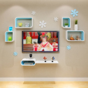 Amour Lighting Backdrop Decoration Bedroom Bedroom Living Room Creative Grid Shelf
