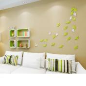 Amour Lighting Green backdrop Decorative bedroom Bedroom Living room Creative lattice Shelf wall partition Shelf