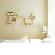 Amour Lighting Wall racks wooden living room bedroom storage decorative frame creative grid combination