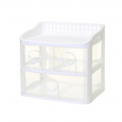 X & Y Office Desktop Storage Box Drawer Plastic Finishing Cabinet Multi-Layer Dresser