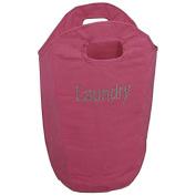 Diamante Laundry Bag Washing Clothes Bin Foldable Storage Hamper Room Tidy-PINK