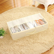 CUPWENH Thick Transparent Shoe Box Pockets Can Be Combined Shoes, Shoe Boxes, Boxes, White Rice White A