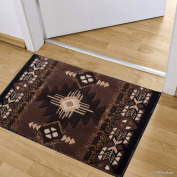 Allstar Chocolate Doormat Accent Rug Woven High Quality High Density Double Shot Drop-Stitch Carving