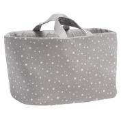 Funny Baby Stars – Bag juguetero Oval of Mural, Stars, 30 x 45 x 27 cm, Grey