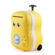 JoyJay Kids Digital ATM Money Bank Machine Cartoon Password Automatic Money Saving Children's Toy Money Box Yellow