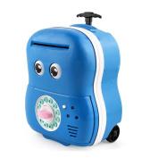 JoyJay Kids Digital ATM Money Bank Machine Cartoon Password Automatic Money Saving Children's Toy Money Box Blue