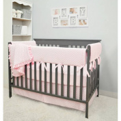 American Baby Company Heavenly Soft Minky Dot 6-Piece Crib Bedding Set, Choose your Colour