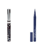 Hard Candy Fierce Effects Daring Lip Gloss, 968 Adrenaline + Hard Candy Stroke of Gorgeous Ultra Fine Tip Precision Application with Lash Enhancing Serum, In The Navy + 3 Count Eyebrow Trimmer