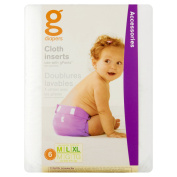 gDiapers Cloth Inserts - 6pk