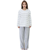 MOXIN Women's Sleepwear Fleece Coral Velvet Long Sleeve Pyjama Set Home Service