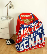 "Arsenal F.C. ""Crest"" Design Super Soft Fleece Blanket"