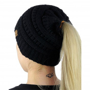 ♥Ponytail Beanie Hat♥, KEERADS Women Warm BeanieTail Soft Stretch Cable Knitted Hats