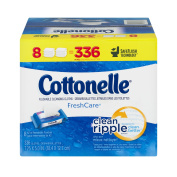 Cottonelle Freshcare Flushable Cleansing Cloths, 336 Ct