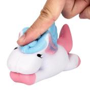 Masrin Kawaii Unicorn Toys Funny Squishy Slow Rising Cartoon Doll Cream Scented Decompression Toys Kids Xmas Gift
