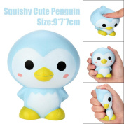 JACKY-Store Stress Reliever Squishy Squeeze Playset Kawaii Penguin Cartoon Scented Squishy Slow Rising Squeeze Toy for Kids Children 9cm