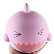 Jumbo Squishies Slow Rising Toy,Y56 Soft Cute 15cm Pink Lovely Happy Shark Scented Slow Rising Jumbo Squishy Toys Stress Relief Toys Gifts for Kids Adults Birthday Party Favours