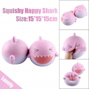 NXDWJ Cute Laughing Shark Pinky Cream Scented Squishy Toy Slow Rising Squeeze Lovely Small Soft Gadget Pressure Relief Stress Exit