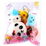 5pcs Medium Decompression Toys Mini SOMESUN Soft Squishy Bread Toys Key Chain