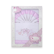 Flannel Sheets Cot Bows White And Pink