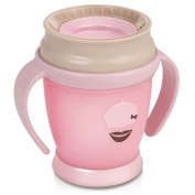LOVI 360° training cup, 210ml, pink