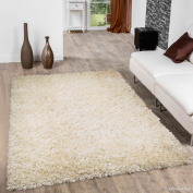 Allstar White Solid Thick Modern Shaggy Area Rug