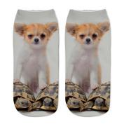 Women 3D Printed Ankle Socks Wingbind Cute Animal Pattern Comfort Casual Soft Low Cut Socks