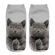 Women's 3D Cartoon Animal Print Ankle Socks Wingbind Breathable Funny Cute Low Cut Casual Socks Crew Socks