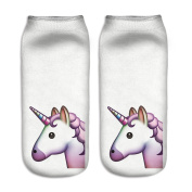Women Girls Unicorn Socks