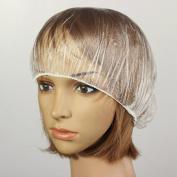 Furnido 100pcs Transparent Disposable Waterproof Plastic for Woman and Man Spa Salon Beauty Bath Shower Caps Hotel