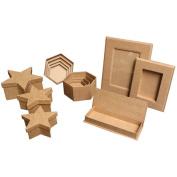 Papier Mch - Paper Mache Boxes & Frames - House Box - Set of 5