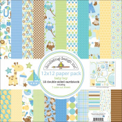 Doodlebug Snips and Snails Cardstock Pack, 30cm x 30cm