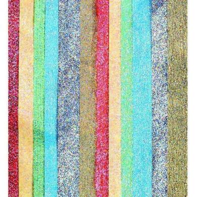 Kolorfast Non-Bleeding Lustre Tissue Paper, 50cm x 80cm , Assorted Metallic Colours, Pack Of 14
