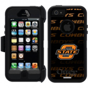 Oklahoma State Repeating Design on OtterBox Defender Series Case for Apple iPhone 5/5s